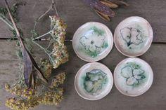 Tiny Trinket Dishes Ceramic Woodland by ShadyGrovePottery on Etsy
