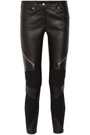 GivenchySkinny pants in black leather and stretch-knit