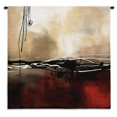 Fine Art Tapestries 'Symphony in Red and Khaki I' Small Wall Tapestry