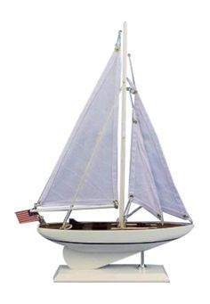 Handcrafted Nautical Decor Intrepid Sailboat, 16""