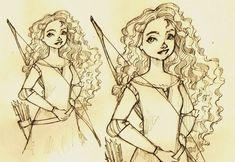 Merida by dasammy on DeviantArt Sketch Drawing, Merida, Pixar, Fanart, Take That, Princess Zelda, Deviantart, Portrait, Drawings