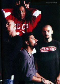 Shavo Odadjian, Daron Malakian, Serj Tankian y John Dolmayan The Band, Down Band, System Of A Down, Emo Bands, Music Bands, Rock Bands, Rock Y Metal, Nu Metal, Syndrome Of A Down