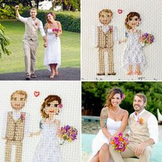 Meet cute couple from the post back ☺There are so many details like dress, tattoo, bouquet, hair etc. #rssidebysides