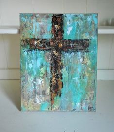 Cross Painting Abstract Painting Original Art Religious Home Decor Hand Painted Cross Canvas Paintings, Easy Canvas Painting, Canvas Art, Painting Abstract, Christian Paintings, Christian Art, Easter Paintings, Religious Paintings, Cross Art