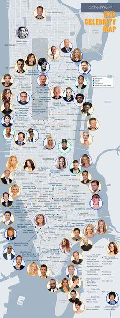 NYC celebrity maps