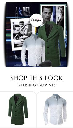 """""""Rosegal 2/38"""" by amerlinakasumovic ❤ liked on Polyvore featuring Thierry Mugler, DKNY, men's fashion and menswear"""