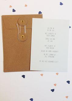 Cadeau idee Valentijn, valentijnsdag, Tekstje voor Valentijn over de liefde, Valentijnskaart van Gewoon JIP.