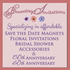 I'm offering a discount! 15% off for the whole month of March. All invitations and Save the Date Magnets.