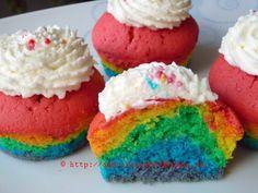Rainbow Cupcakes (Regenbogen Cupcakes) - amerikanisch-kochen.de