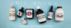 Shop Mrs White's all natural range for bathroom, kitchen, beauty, pets and furniture and fittings. Chemical Free - kind on skin.
