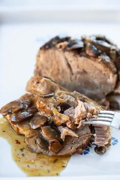 Boston Pork Roast Recipe, Pork Roast With Gravy, Pork Roast Recipes, Crockpot Recipes, Pork Meals, Ham Recipes, Pot Roast, Healthy Recipes, Pork Shoulder Butt Roast Recipe