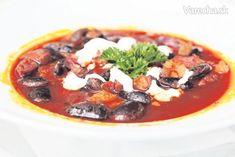 Fazuľová polievka Jókai - recept | Varecha.sk Vegetable Pizza, Soup Recipes, Vegetables, Food, Red Peppers, Essen, Vegetable Recipes, Meals, Yemek