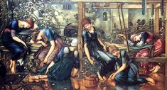 The Garden Court Buscot Park - Edward Burne-Jones - Wikipedia Chinese Painting, Chinese Art, Famous Fairies, Edward Burne Jones, Japanese Calligraphy, Briar Rose, Pre Raphaelite, Linocut Prints, Botanical Illustration