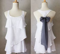 ASPEN AURA  by FleetCollection  (excuse the *white*, but what a beautiful DIY touch to add this bow to any flowy racerback tank)