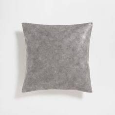 Faux leather light grey cushion cover
