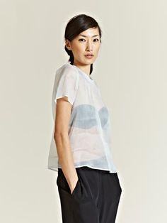 Jil Sander Women's Sheer Lost Top
