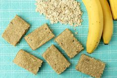 Recipe for Make-Ahead Banana Bread Oatmeal Bars (made entirely in the food processor!) and my guest post up on Small Fry #glutenfree #makeahead