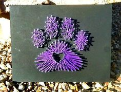 Animal Paw print String Art Wall hanging by ThejewelryCage on Etsy