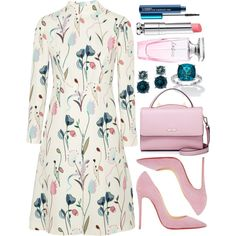 A fashion look from February 2017 featuring multi-color dresses, red high heel shoes and cowhide purses. Browse and shop related looks. Look Fashion, Womens Fashion, Fashion Tips, Fashion Trends, Fashion Websites, Latest Fashion, Classy Outfits, Chic Outfits, Estilo Gossip Girl