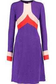 Emilio PucciColor-block silk-blend crepe dress