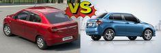 Ford Figo Sedan vs Maruti Swift Dzire : Should Maruti Be Worried? http://www.carblogindia.com/ford-figo-sedan-vs-maruti-swift-dzire/
