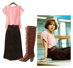 """Molly Ringwald Breakfast Club"" by kalamitykris ❤ liked on Polyvore featuring Mark & Maddux"