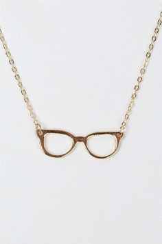 Cat glasses necklace in gold