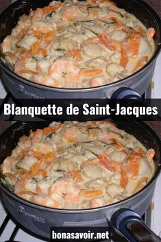 Blanquette de Saint-Jacques To continue in the holiday recipes, here is a recipe from my binders, quick to make and bringing together products that blend perfectly. This recipe therefore puts the spotlight on fish, shellfish, scallops. Cheesecake Recipes, Dessert Recipes, Seafood Recipes, Cooking Recipes, Almond Flour Cakes, Guacamole Deviled Eggs, Polynesian Food, Dessert For Dinner, French Food