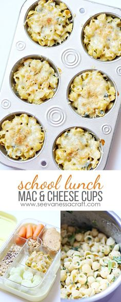 Spinach and Kale Mac and Cheese Cups - Back to School Lunch Idea for Kids /sprouts/ /btfe/ #SproutsBoxTops #ad