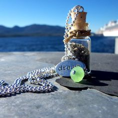 Sand in a Bottle Necklace by magnoliacreek on Etsy, $15.00