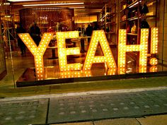YEAH!    Shop display, New Bond Street, Mayfair, London