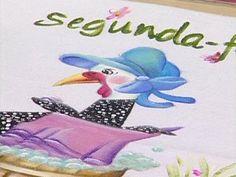 Arte Brasil | Pintura em Tecido - Galinha DAngola - Beth Matteelli