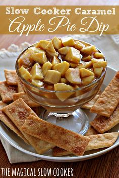 Since I made this easy Slow Cooker Caramel Apple Pie dip, I may never make a regular apple pie again. All the flavors of apple pie in an easy dip! I'm all about easy meals and desserts lately.