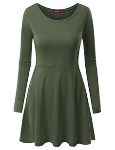 Doublju Women Stretchy Boat Neck Long Sleeve Big Size Dresses OLIVE,XL Doublju http://www.amazon.com/dp/B014IMQN4M/ref=cm_sw_r_pi_dp_cygjwb0AYVWR2