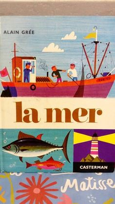 Old book french.  Vintage. hey, j'ai trouvé ce super article sur Etsy, chez https://www.etsy.com/fr/listing/474214846/livre-vintage-enfant-casterman-la-mer
