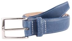Bassin &Brown - Blue Leather Belt - Made In England. http://www.bassinandbrown.com/