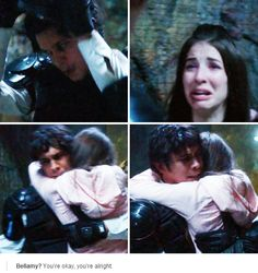 I cried here. No matter what anyone says, Bellamy and Clarke are more than just leaders, they're basically the parents of these kids...