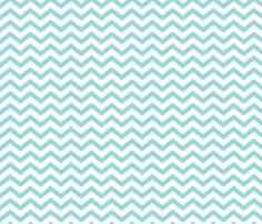 Chevron Light Teal fabric by misstiina on Spoonflower - custom fabric