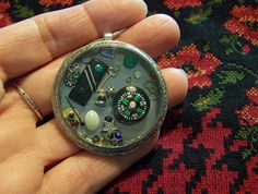 Steampunk Compass View Watch Pendant by mymysticgems on Etsy, $50.95