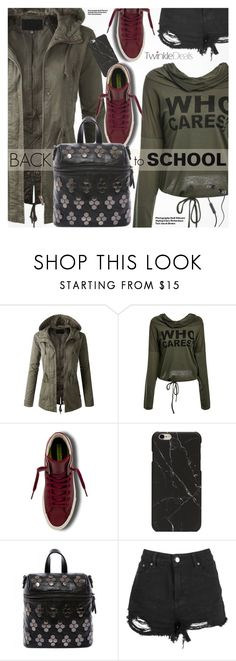 """""""Back To School"""" by pokadoll ❤ liked on Polyvore featuring Converse, Boohoo, Hedi Slimane, Skullcandy, polyvoreeditorial and polyvoreset"""