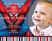 Spiderman invitation