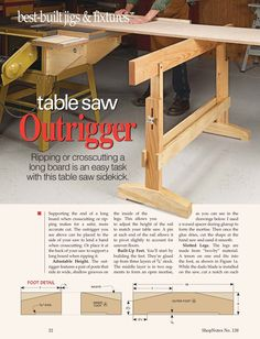 Table saw side support