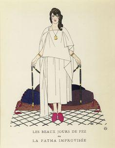 Les Beaux Jours de Fez (from Gazette du Bon Ton) by Boutet de Monvel, Bernard | Shop original vintage #posters online: www.internationalposter.com