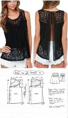 Lace patterned top...<3 Deniz <3