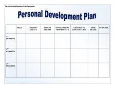 A Personal Development Plan Template May Be Prepared By An Individual For  His Own Personality Development Or It May Be Prepared By A HR Manager For  Training ...