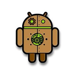 Copperbot Android Pin - Dead Zebra, Inc Shop