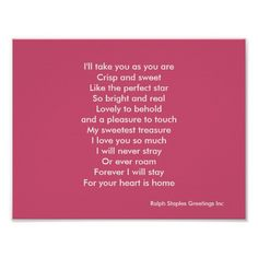 Valentine's day love poem posters by Ralph Staples Greetings Inc