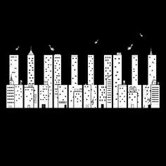 That's cool - skyline or piano, depending on how you look at it.