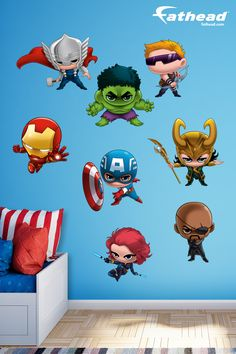 Captain America Avengers Assemble Diy Bedroom Decor Superhero - Superhero vinyl wall decals