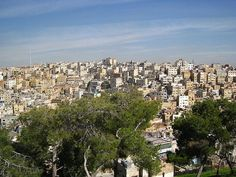 View of Amman taken from Jabal al- Qala, one of the numerous hills in the city. This is also the location of the ancient Citadel, Ummayad Palace, and Temple of Hercules.